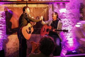 David Blair live - Cafe La Vie Bad Urach - Steffen Knauss Bass