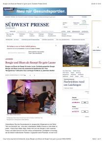 Boogie und Blues als Rezept für gute Laune   Südwest Presse Online