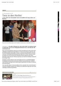 Hohenstadt: Tanz in den Herbst