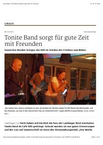 Laichingen: Tonite Band sorgt für gute Zeit mit Freunden