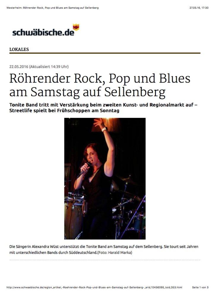 Westerheim: Röhrender Rock, Pop und Blues am Samstag auf Sellenberg