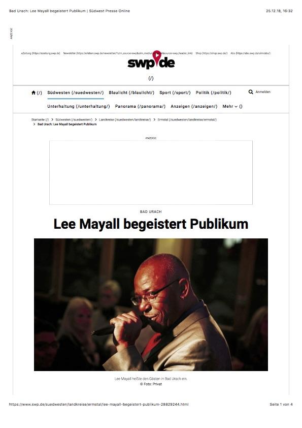 Lee Mayall Bad Urach Café La Vie Alb Live Konzert