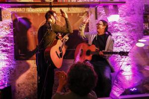 David Blair live - Cafe La Vie Bad Urach - Steffen Knauss Bass